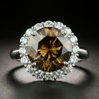 5.45 Carat Natural Fancy Brown Diamond Cluster Ring - GIA - 2