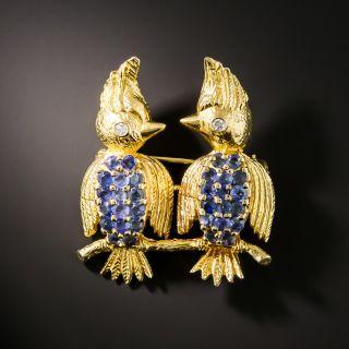 Two Little Dickie Birds Brooch - 1