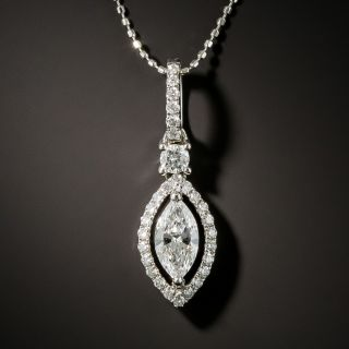 .53 Carat Marquise-Cut Diamond Pendant - 2