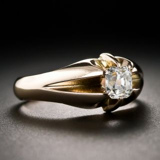.55 Carat Cushion-Cut Diamond Antique Rose Gold Ring