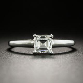 .58 Carat Square-Cut Diamond Solitaire Engagement Ring GIA - F VS1 - 2