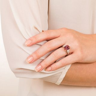 6.00 Fancy Natural-Color Sapphire and Diamond Ring - AGL