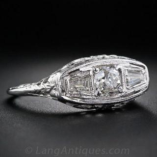 .60 Carat Center Diamond Art Deco Ring