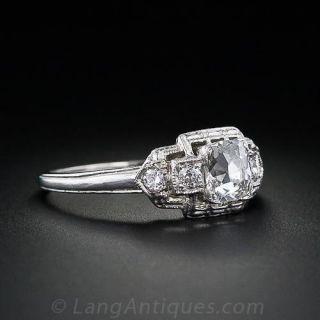 .60 Carat Deco Style Diamond Engagement Ring in Platinum