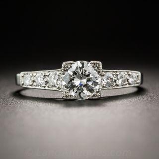 .60 Carat Diamond and Platinum Vintage Engagement Ring
