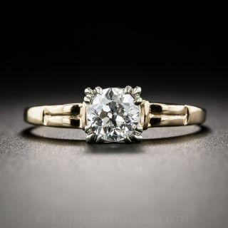 .65 Carat Diamond Two-Tone Vintage Solitaire Engagement Ring