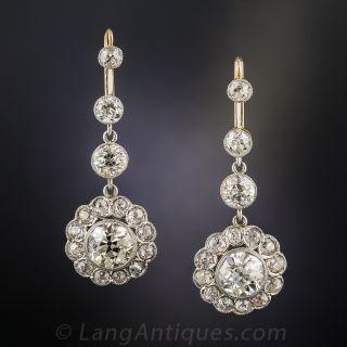 7.50 Carat Diamond Dangle Drops