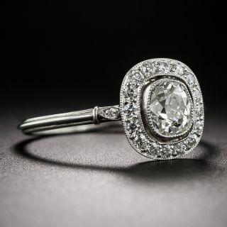 .71 Carat Antique Cushion-Cut Platinum and Diamond Ring