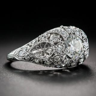 .75 Carat Diamond and Platinum Edwardian Engagement Ring - Size 5 1/4