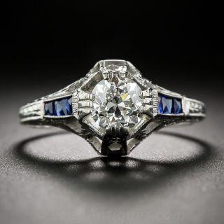 .77 Carat G  VVS2 Diamond Art Deco Ring by Belais