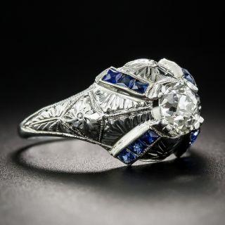 .80 Carat Art Deco Diamond Dome Ring