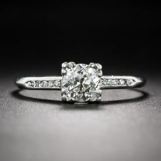 .80 Carat Platinum Diamond Art Deco Engagement Ring