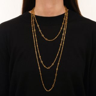 80-Inch Vintage Chain Necklace