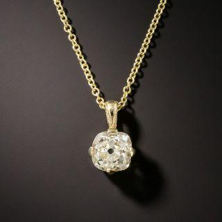 .87 Carat Old Mine-Cut Diamond Drop - GIA - 1