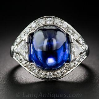 9.60 Carat No-Heat Burma Sapphire and Diamond Ring - 1