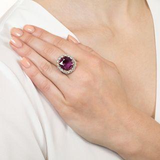 9.82 Carat Thai Ruby and Diamond Ring