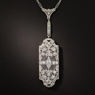 Art Deco Diamond Drop Pendant - 1