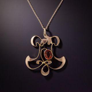 British Art Nouveau Citrine Necklace - 0