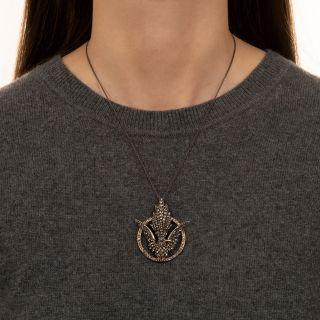 Victorian Diamond Bird Pendant