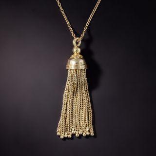 Victorian Gold Tassel Necklace - 0