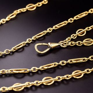 80-Inch Vintage Chain Necklace - 0