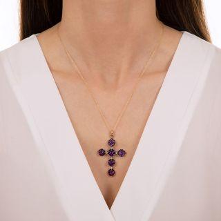 Victorian Amethyst and Diamond Cross