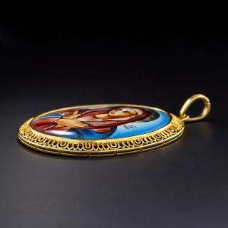 Enamel Miniature Madonna