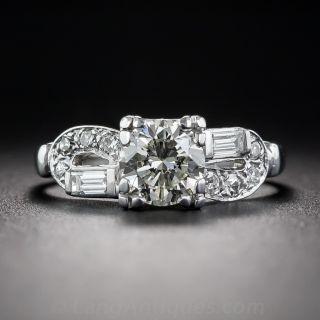 .90 Carat Art Deco Engagement Ring