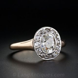 .90 Carat Early 20th Century Cushion-Cut Diamond Ring