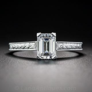 .90 Carat Emerald-Cut Diamond Ring - GIA D SI1 - 1
