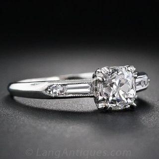 .90 Carat Old Mine-Cut Diamond Engagement Ring