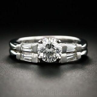 .91 Carat Platinum and Diamond Classic Baguette Wedding Set - 1
