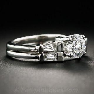 .91 Carat Platinum and Diamond Classic Baguette Wedding Set