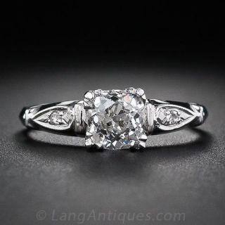 .95 Carat Diamond Art Deco Engagement Ring