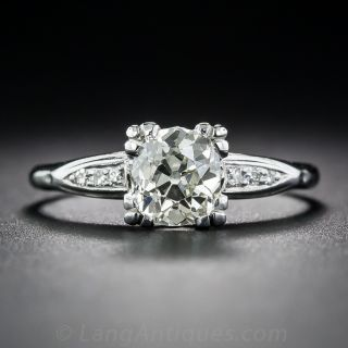 .95 Carat Old Mine Cut Diamond Ring