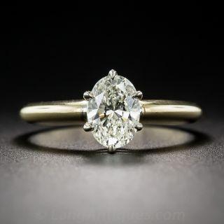 .95 Carat Oval Diamond Ring