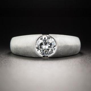 .95 Carat Platinum Diamond Gent's Ring - 1