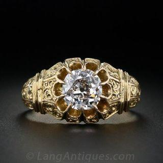 .96 Carat Victorian Diamond Solitaire Ring