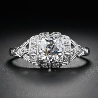 .97 Carat Old Mine Cut  Diamond Ring - 1