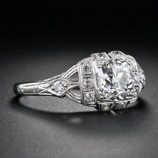 .97 Carat Old Mine Cut  Diamond Ring