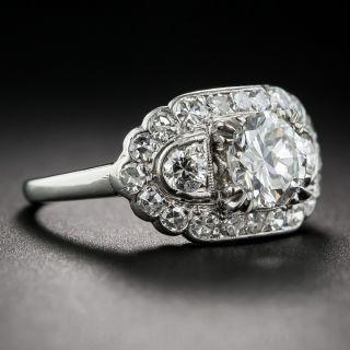 .97 Carat Vintage Diamond Engagement Ring GIA F-SI2