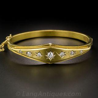 9K Victorian Diamond Bangle Bracelet