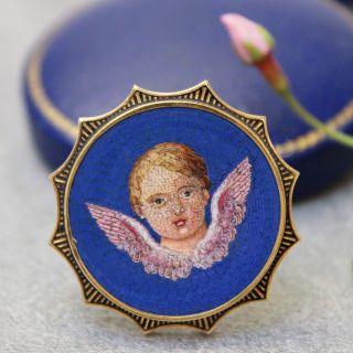 Angelic Micro-Mosaic Pin