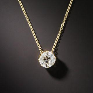 Antique 0.95 Carat Old Mine Diamond Solitaire Pendant - 7