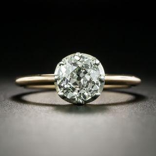 Antique 1.53 Carat Solitaire Diamond Engagement Ring - GIA  J SI2 - 2