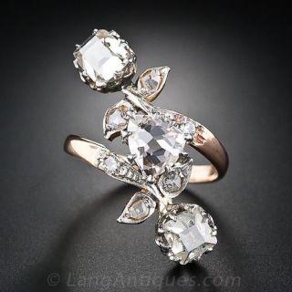 Antique 1.91 Carat Fancy Light Pink Brown Diamond Dinner Ring - GIA - 1