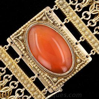 Antique 18K Carnelian Bracelet