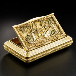 Antique 18K Gold Pictorial Box From Portugal - 2