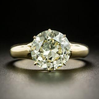 Antique 3.70 Carat European-Cut Diamond Solitaire Ring - GIA  - 2
