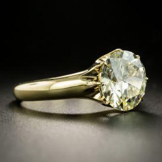 Antique 3.70 Carat European-Cut Diamond Solitaire Ring - GIA